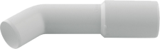 Plastikinė 45° alkūnė Blu dušo sifonui