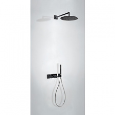 Juodas termostatinis dušo komplektas Tres Study Exclusive