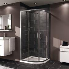 Pusapvalė dušo kabina Huppe X1 90x90 cm, sidabras, persišviečiantis  stiklas (R550)