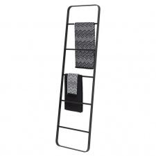 Pastatomos kopėtėlės - rankšluosčių laikiklis Sealskin BRIX, juodos