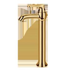 Aukso spalvos aukštas praustuvo maišytuvas OMNIRES ART DECO