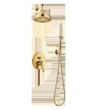 Aukso spalvos dušo komplektas OMNIRES ART DECO