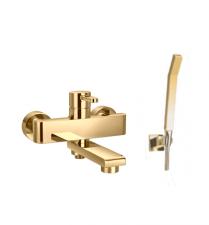 Смеситель для ванны (комплект) OMNIRES DARLING золотого цвета