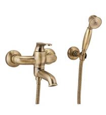 Bronzos spalvos maišytuvas voniai (komplektas) OMNIRES ART DECO