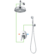 Potinkinė dušo sistema OMNIRES ART DECO
