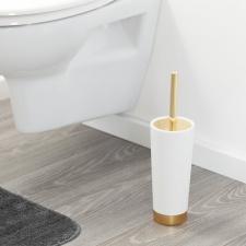 WC šepetys Sealskin GLOSSY aukso/baltos spalvos
