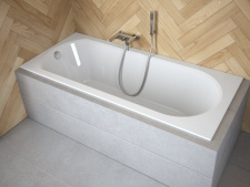 Stačiakampė akrilinė vonia Besco INTRICA SLIM