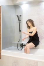 Смеситель для ванны (комплект) OMNIRES DARLING черного цвета