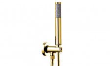Aukso spalvos dušo galvutė su laikikliu Bossini C12 — ZEN