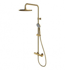 Aukso spalvos termostatinis komplektas dušui OMNIRES Y1244LUXLGL