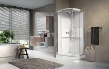 Masažinė dušo kabina Novellini Media 2.0, apvali