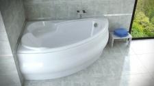 Asimetrinė akrilinė vonia Besco FINEZJA NOVA