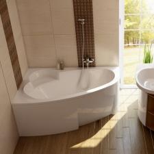 Asimentrinė akrilinė vonia Ravak Asymmetric