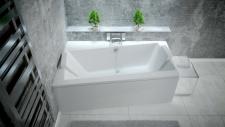 Asimetrinė akrilinė vonia Besco INFINITY