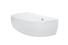 Asimetrinė akrilinė vonia Besco MINI 150x70
