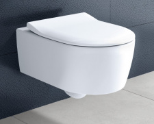 Pakabinamas unitazas Avento Flush WC + dangtis SLIM Soft Close Villeroy & Bosh