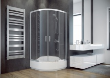 Pusapvalė dušo kabina Besco MODERN 165