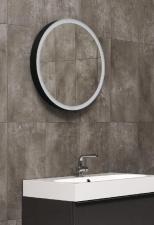 Выдвижное зеркало для ванной комнаты черного цвета Moon Miior