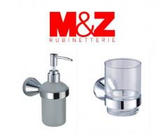 Vonios kambario aksesuarų komplektas - stiklinaitė ir muilo dozatorius M&Z Grande, IŠPARDAVIMAS