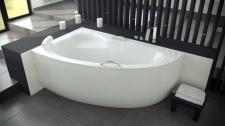 Asimetrinė akrilinė vonia Besco NATALIA Premium 150x100