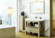 Pastatomas vonios kambario baldas Devo Ambiente su akmens masės praustuvu