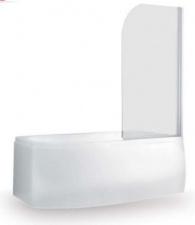 Berėmė vonios stiklinė sienelė SaniPro Screen Pro 810, skaidri