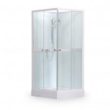 Kvadratinė ketursienė dušo kabina – dėžė SaniPro Simple Square