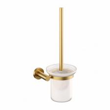 Šlifuoto aukso spalvos WC šepetys OMNIRES MODERN PROJECT