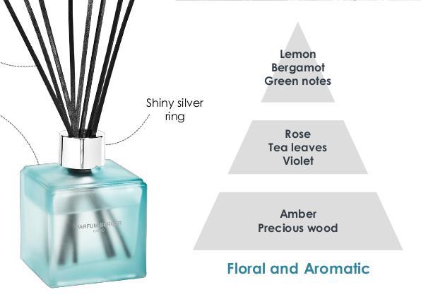 Namų kvapas - lazdelės vonios kambariui Cube Bath LampeBerger