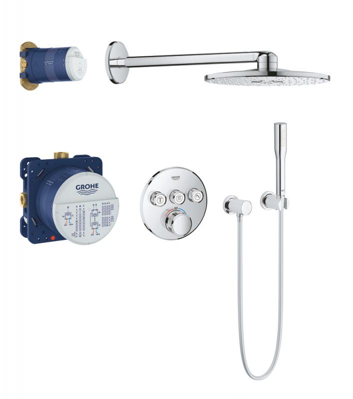 Potinkinė dušo sistema Grohtherm SmartControl Perfect ir Rainshower 310 SmartActive