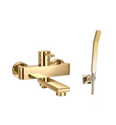 Aukso spalvos maišytuvas voniai (komplektas) OMNIRES DARLING