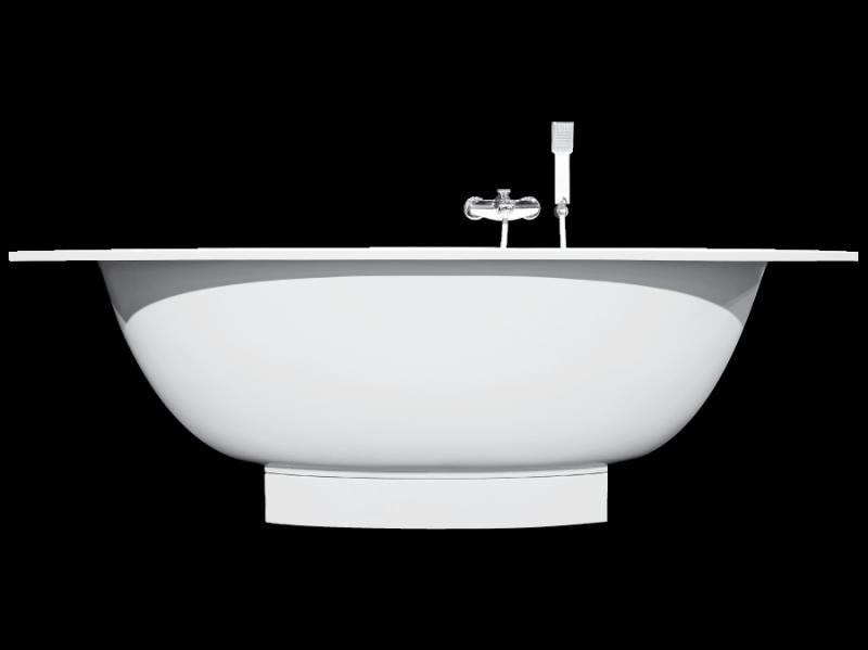 Akmens masės vonia PAA VERSO 170X75 su paneliu