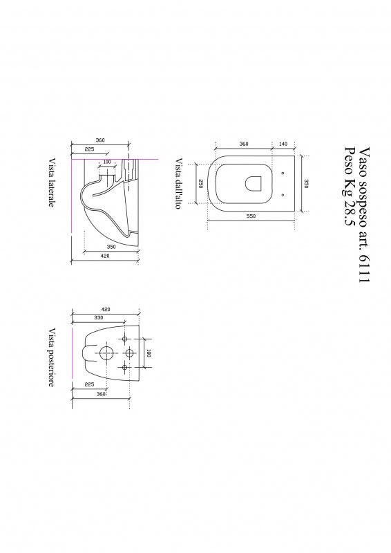 WC pakabinamas + dangtis soft close extra slim Plus Design, Galassia