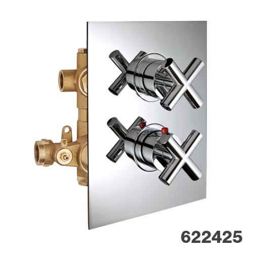 Potinkinis 2-jų eigų termostatinis maišytuvas dušui Palazzani Formula Multi
