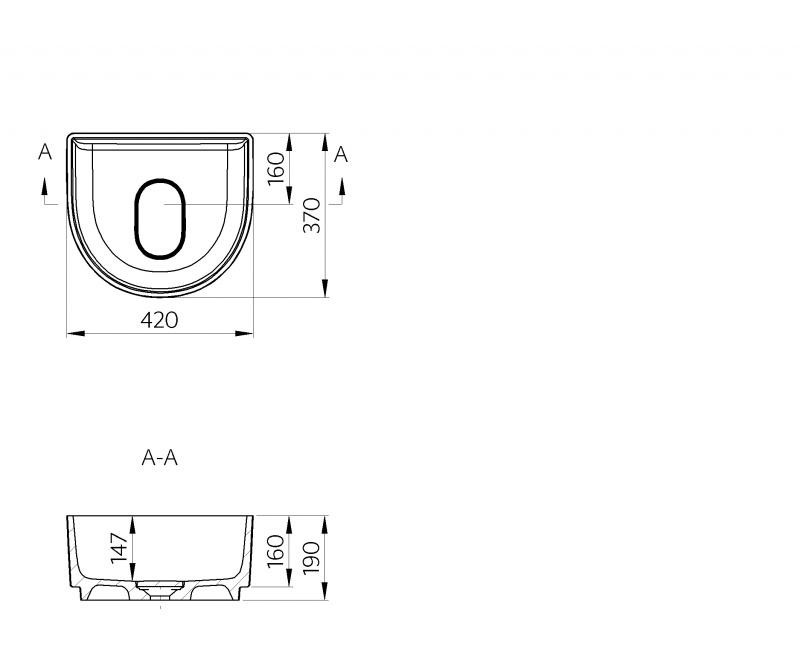 Akmens masės pastatomas praustuvas Marmite 0506 C 370