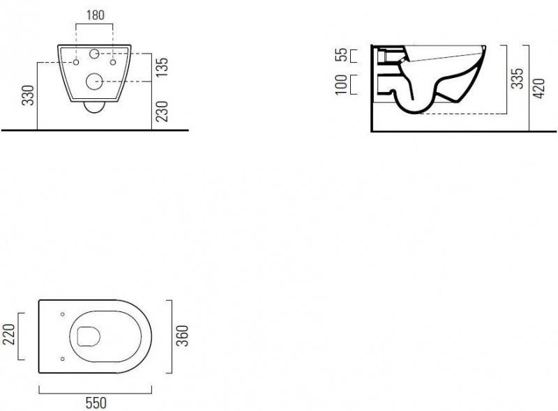 Pakabinamo WC PURA Rimless GSI ir rėmo Tece Ambia komplektas (chromas)