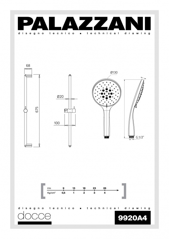 Dušo komplektas Idrotech 2 Formula Multi, Palazzani