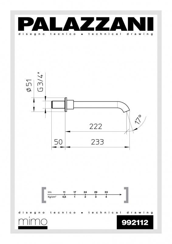 Излив для ванны Digit 3 Idrotech 2 Formula Multi Palazzani