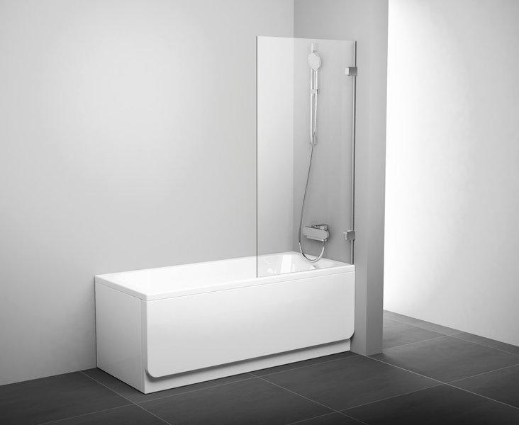 Stačiakampių vonių sienelė Ravak BVS1