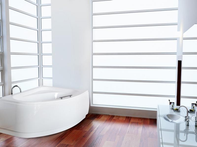 Asimetrinė akrilinė vonia Besco CORNEA COMFORT 150x100