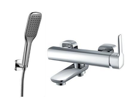Maišytuvas voniai su dušo galva, žarna ir laikikliu OMNIRES HUDSON