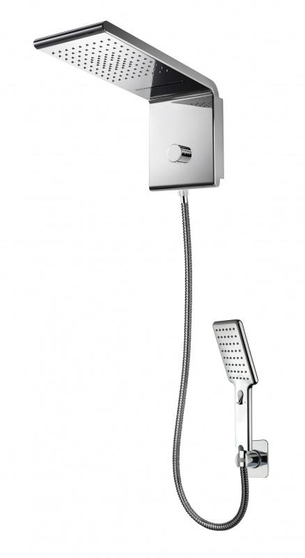 Stacionarus dušas su rankiniu dušeliu ir integruotu divertoriumi Bossini Syncro-Rain Renovation Set