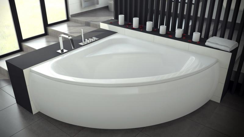 Kampinė akrilinė vonia Besco LUKSJA 149