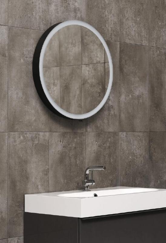 Vonios kambario veidrodis Moon Miior juodos spalvos (atitraukiamas)