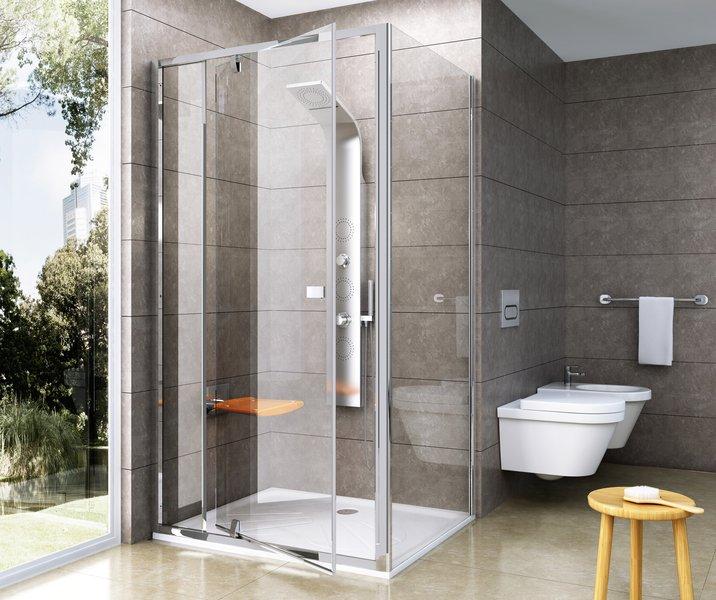 Stačiakampė dušo kabina Ravak Pivot PDOP1/PDOP2 + PPS