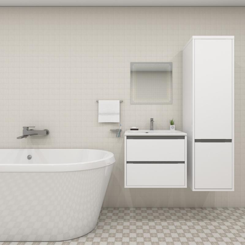Vonios baldų komplektas Blu SAVONA II balta 900, IŠPARDAVIMAS