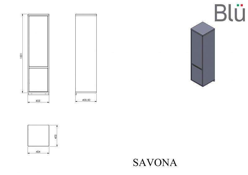 Ūkinė spintelė Blu SAVONA II 402