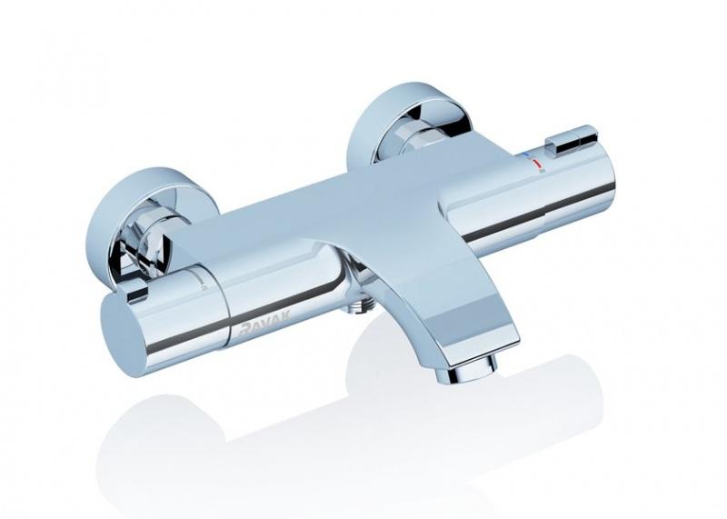 Termostatinis sieninis vonios/dušo maišytuvas Ravak TE 082.00/150