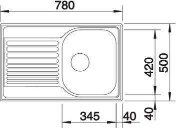 Nerūdijančio plieno plautuvė Blanco Tipo 45 S Compact