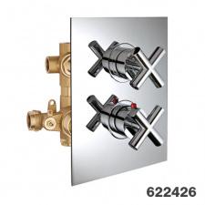 Potinkinis 3-jų eigų termostatinis maišytuvas dušui Palazzani Formula Multi